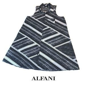 Alfani Geometric Sleeveless Shirt Dress